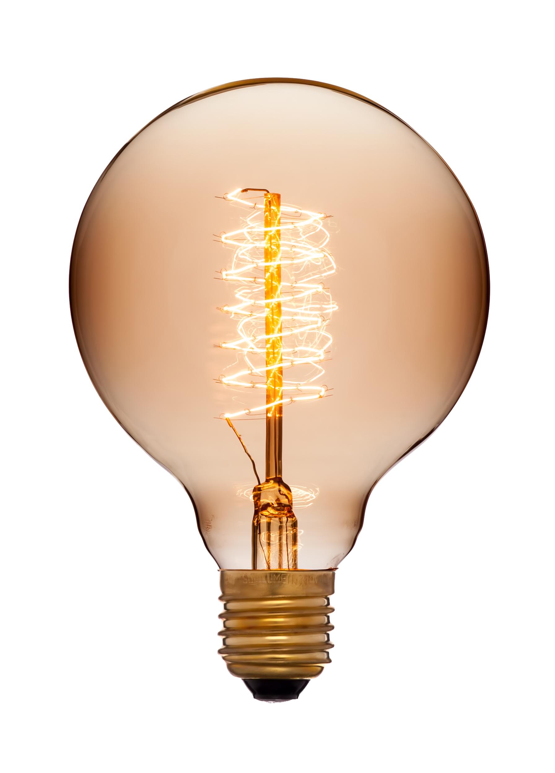 Картинка первой лампы накаливания